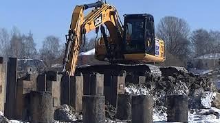 В Ярославле продолжается строительство Комсомольского моста