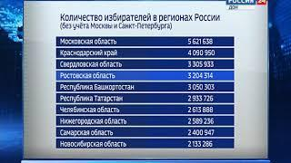По количеству избирателей донской край занял четвертое место в стране