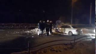Страшное ДТП В Калуге: сбили пешехода, сгорело авто