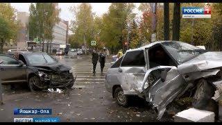 В Йошкар-Оле на перекрёстке улиц Красноармейская и Осипенко прозошло ДТП - Вести Марий Эл