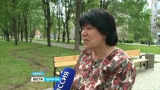 Благоустроенный Бульвар Гоголя в Ижевске встретил весну в неприглядном виде