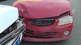 На Океанском проспекте в ДТП с участием полицейского авто пострадала женщина