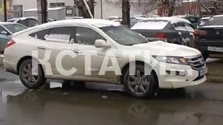 Апрельский снегопад спровоцировал пробки и аварии.