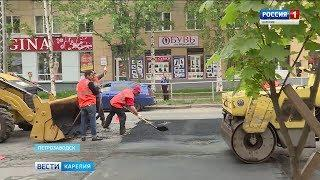 Ямочный ремонт дорог начался в Петрозаводске