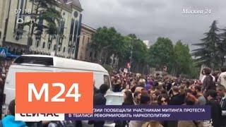 Власти Грузии пообещали участникам митинга в Тбилиси реформировать наркополитику - Москва 24