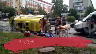 Серьёзное ДТП в Вологде: столкнулись «Киа» и машина реанимации