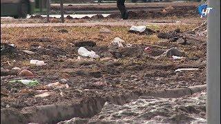 Съемочная группа НТ прошлась по одним из самых грязных мест Великого Новгорода