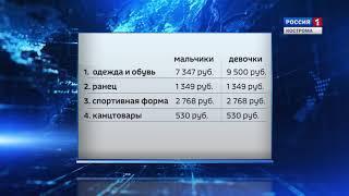 В Костромастате посчитали, сколько стоит собрать ребенка в школу в этом году