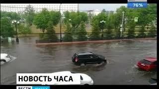 В Иркутске устраняют последствия стихии — ливня с градом