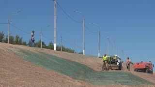 В Волгограде используют новую технологию посадки газона