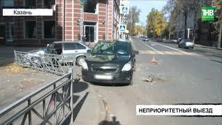 Лада 14-й модели и Шевроле столкнулись на пересечении улиц Волкова и Лесгафта | ТНВ