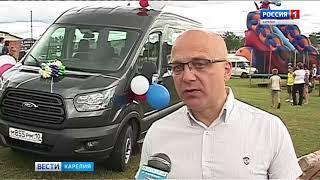 Психоневрологический интернат в Великой губе получил новый микроавтобус