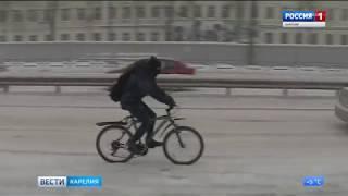 Зима не собирается уходить из Карелии