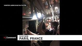 Эвакуация в парижском метро