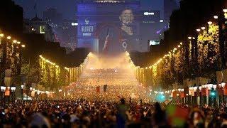 Ночь после финала. Как завершение ЧМ-2018 отмечали Франция, Хорватия и весь мир