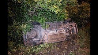 ДТП с опрокидыванием в Киеве на Столичном шоссе: Renault отправил Chevrolet в кювет