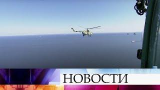 В Санкт-Петербурге прошла репетиция воздушной части парада ВМФ.