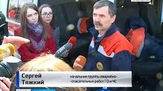 В Красноярске мужчина залез на опору линии электропередач