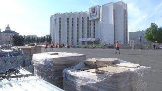 Праздник к нам приходит: в Саранск прибывают конструкции будущего фестиваля болельщиков