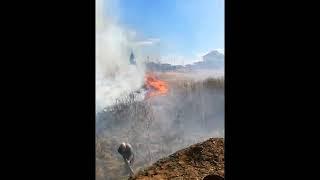 Пожар в Полетаево 2