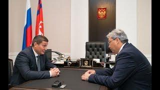 Андрей Бочаров и Сергей Альмеев обсудили вопросы перспективного развития железнодорожного сообщения
