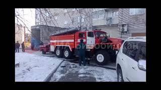 Пожар в 9 этажке в Биробиджане (РИА Биробиджан)