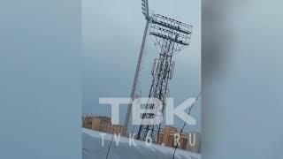 Последствия штормового ветра в Красноярске
