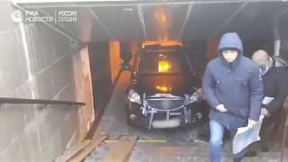 Джип в переходе Санкт-Петербурга