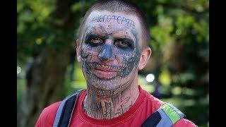 Зачем воронежец набил себе тату на лице