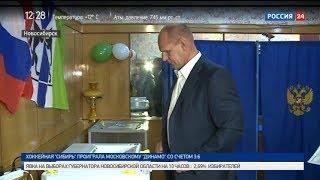 Александр Карелин проголосовал на выборах губернатора Новосибирской области
