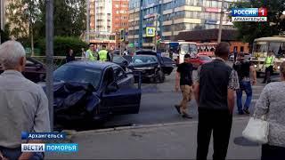 ДТП в центре Архангельска остановило движение