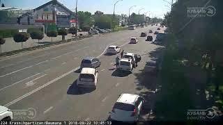 ДТП на ул. Красных Партизан и ул. Баумана 22.09.2018