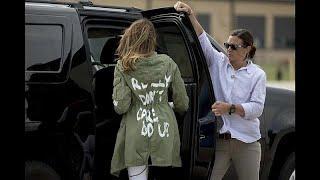 Первая леди США посетила детей мигрантов