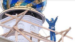На храм Похвалы Пресвятой Богородицы установили новый купол