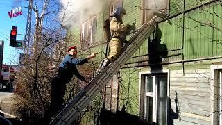 Пожар на улице Ровио