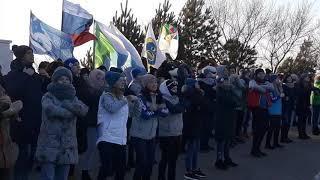 Флеш-моб в честь окончания года добровольца в Хабаровске