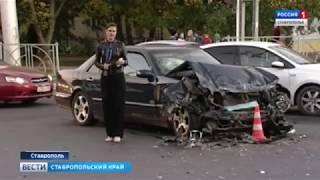 Скорая помощь и «Мерседес» столкнулись в Ставрополе