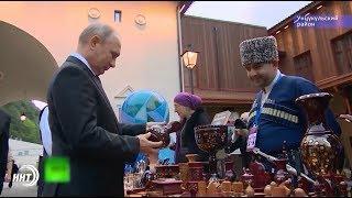 В.Путин заинтересовался изделиями унцукульского ремесленника