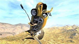 СЛИШКОМ СИЛЬНО РАЗОГНАЛСЯ - BeamNG Drive аварии на скорости