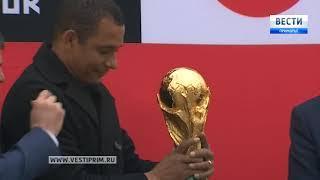 Медиавизит Кубка чемпионата мира по футболу FIFA в студию ГТРК «Владивосток»