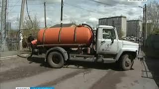 В Красноярске вышку сотовой связи подмыло в результате коммунальной аварии