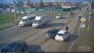 ДТП на ул. Российская и ул. Пригородная 01.03.2018