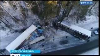 Водитель фуры погиб в ДТП на Култукском тракте
