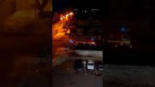 Возгорание мусорного контейнера в Оренбурге тушила пожарная машина
