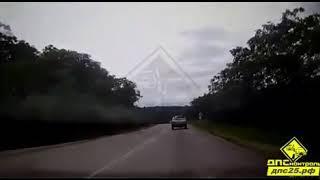 Смертельная авария на приморской трассе попала на камеру видеорегистратора.