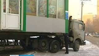 За неделю в центре Красноярска снесут 35 павильонов