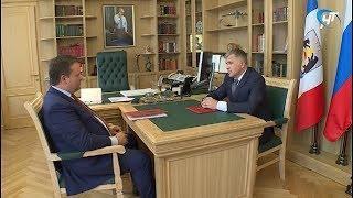 Андрей Никитин встретился с новым зам. председателя правительства и с главой Волотовского района