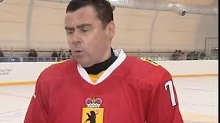 В Некрасовском состоялся хоккейный матч между сборными Правительства ЯО и Газпрома