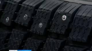 В Красноярске проверили качество зимней автомобильной резины