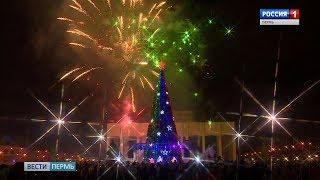 Главный Дед Мороз страны зажёг огни на всех ёлках Перми